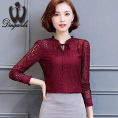 Barato 2016 outono camisa Arco laço a céu aberto lace Moda Tops feminino longo sleeved Mulheres Casuais Chiffon Blusa, Compro Qualidade Blusas & Camisas diretamente de fornecedores da China:                          tamanho     S