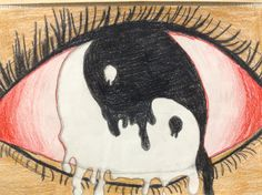 """Inspired by Magritte, """"Surreal Eye"""" middle school lesson."""