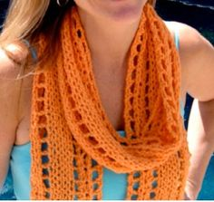 The Cantaloupe Scarf is a free scarf knitting patterns that's great for both experienced and beginner knitters.  For best results, make sure to block your design once it's finished.
