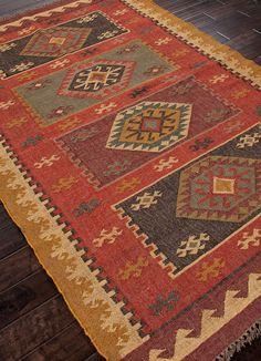Bedouin Amman Red Area Rug