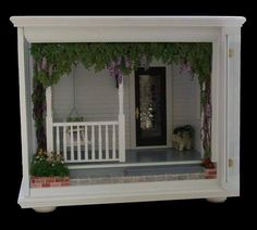 Lovely Miniature Front Porch Room Box
