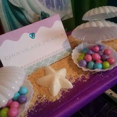 Ava's Under the Sea Dessert Table | CatchMyParty.com