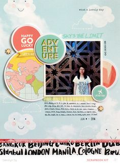 #papercraft #Scrapbook #layout.  Adventure *Main Kit Only* by qingmei at @studio_calico