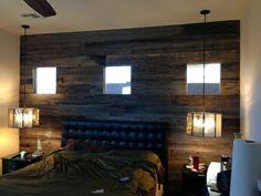 Barnwood Plank Bedroom Wall  #ryobination