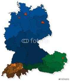 #Vektor: #Deutschland / #Schweiz / #Österreich
