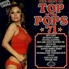 The 'Top Of The Pops' albums - incorporating some very good, some awful, and mostly average covers of hits of the time - were a staple of the particularly for those youngsters who couldn't afford records by the originals. Pop Albums, Music Albums, Old Records, Vinyl Records, Cool Album Covers, Pochette Album, Pop Hits, Lp Cover, Glam Rock