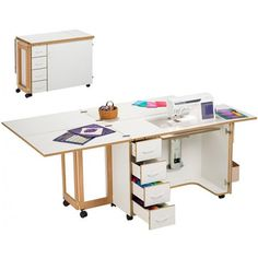For my craft/sewing space! I can dream. Folding Furniture, Sewing Room Furniture, Sewing Room Decor, Sewing Room Organization, Space Saving Furniture, Sewing Rooms, Furniture Plans, Diy Furniture, Sewing Spaces