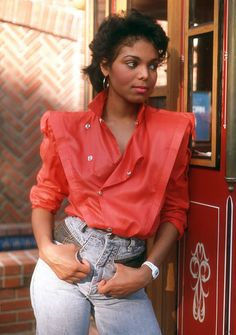 "Another pinner wrote: ""Janet Jackson in the 80's.  YES I tried to find this top, the jeans and do my hair like this.  NO it did not work!"""