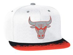 Chicago Bulls Infrared Snapback Cap by MITCHELL & NESS x NBA