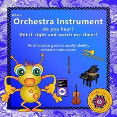 Little bodies will start to move when your students watch the monster dance across the page in this interactive game. Excellent game for recognizing the sounds of the instruments!