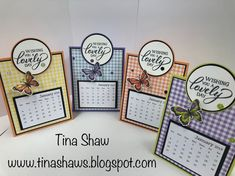 Tina Loves to Stamp: Easel Calendar! Making Gift Boxes, Making Ideas, Christmas Craft Show, Create A Calendar, Fun Fold Cards, Shaped Cards, Easel Cards, Craft Show Ideas, Desk Calendars