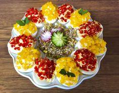 Paprykowe jajeczka faszerowane - Blog z apetytem Easter Recipes, Food And Drink, Rice, Eggs, Blog, Breakfast, Impreza, Polish Cuisine, Haha