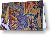 Island In The Sky Satellite View Greeting Card by Mike Dendinger