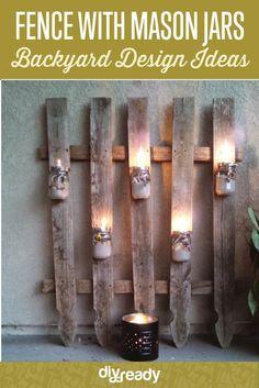 Fence with Mason Jar Lights