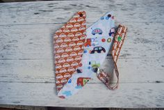 Reversable bandana triangle dribble bib with by OnePrettyPony