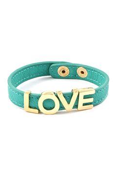 Love Bracelet in Turquoise Mint