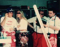 Box McLaren - Ayrton Senna e Adriane Galisteu, GP Mônaco -1993.