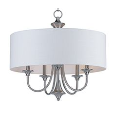 This current trend collection of drum shade lighting is available in your choice of Oatmeal with Oil Rubbed Bronze or White Linen with Satin Nickel frames. This collection works in wide variety of décor styles from traditional to contemporary and comes at a very attractive price. Pendant Chandelier, Pendant Lighting, Maxim Lighting, Drum Shade, Oil Rubbed Bronze, Decor Styles, Oatmeal, Frames, Satin