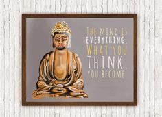 DIY PRINTABLE POSTER // Buddha Meditating // Zen by Clarafornia