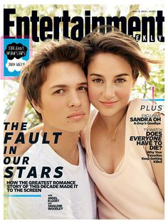 This Week's Cover: 'The Fault in Our Stars' could be this summer's must-see romance: http://popwatch.ew.com/2014/04/30/the-fault-in-our-stars-cover