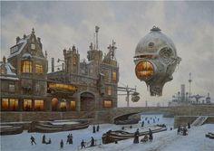 steampunktendencies:  Latest artworks of Vadim Voitekhovitch