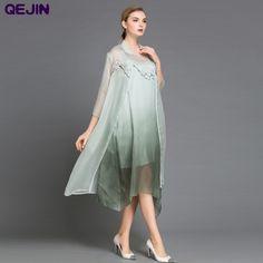 Find More Dresses Information about 3 PIECES SET WOMEN DRESS NOBLE WOMEN DRESS LONG SILK&MODAL DRESS EMBORIDERY MAXI DRESS LOOSE STYLE ORGANZA NET YARD PLUS SIZES,High Quality silk organza party dress,China silk dress for women Suppliers, Cheap silk long dress from Sharewin Fashion(QEJIN) Co.,ltd on Aliexpress.com