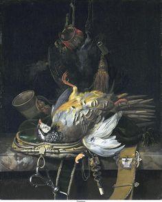 Jachtstilleven ~ 1671 ~ Olieverf op doek ~ 58,8 x 47,8 cm. ~ Mauritshuis, Den Haag