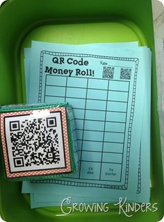 QR SCAN and graph. Inspiration only. Uses money in this lesson but could easily be programed to do other things too. Math Classroom, Kindergarten Math, Classroom Ideas, Teacher Observation, Second Grade Math, Third Grade, Math Workshop, Math Games, Educational Technology