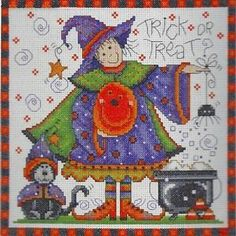 Design Works Crafts - COUNTED CROSS STITCH Kit - Trick or Treat - Joan Elliott