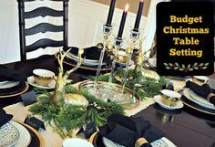 Christmas Table Setting on a Budget