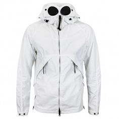 CP Company - 50 Fili Short Goggle Jacket in White Football Casuals, Work Suits, Spring Summer 2018, Sportswear Brand, Nike Jacket, Raincoat, Clothing, T Shirt, Jackets