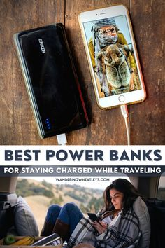 The Best Power Banks and Portable Chargers for Travelers. Our top picks of the best external batteries to keep you cell phone charged while you're on the road from brands like Anker, RAVPower, AUKEY, and Poweradd. I what to pack I packing tips I must have travel gear I portable power banks I must have gadgets I #PowerBank #PortableCharger #ExternalBattery #Travelgear #Gadgets –By Wandering Wheatleys via @wanderingwheatleys Travel Advice, Travel Packing Tips, Packing Lists, Travel Essentials, Packing For Europe, Bus Ride, Road Trip Hacks, Travel Gadgets, World Traveler