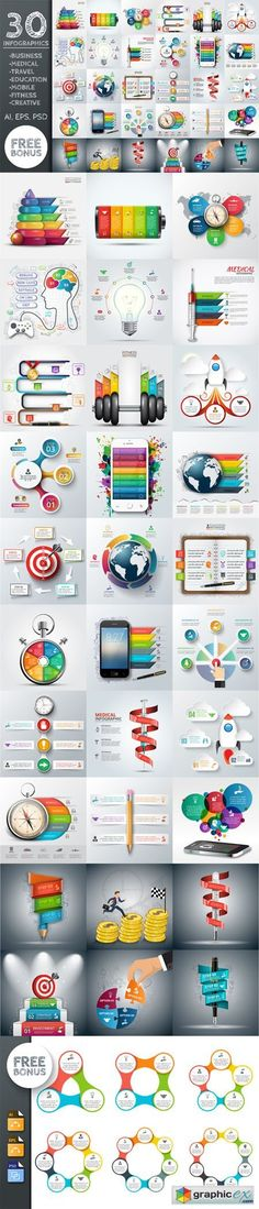 30 business infographic templates