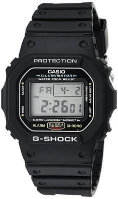 Casio DW5600E-1V G-SHOCK Mens Black Classic Digital Shock Resistant Sports Watch  Item specifics  Condition:  New with tags: A brand-new unused unopened undamaged item in its original packaging (where packaging is  Brand:  Casio  Case Finish:  Matte  Model:  G-Shock G-Classic  Face Color:  Blue  MPN:  DW5600E-1V  Water Resistance Rating:  200 m (20 ATM)  Case Material:  Resin  Age Group:  Adult  Watch Shape:  Square  Band Material:  Plastic  Age:  Modern (2000-present)  Display:  Digital