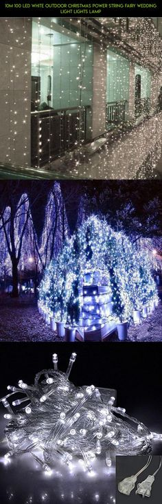 10m 100 LED White Outdoor Christmas Power String Fairy Wedding Light Lights Lamp #camera #drone #decor #fpv #clearance #parts #products #shopping #kit #technology #outdoor #gadgets #plans #tech #racing