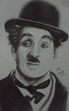 Pencil Sketch Drawing, Pencil Art Drawings, Realistic Drawings, Charlie Chaplin, Portrait Sketches, Art Sketches, Harry Potter Drawings, Black And White Sketches, Gravure
