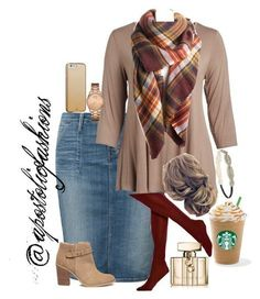 """""""Apostolic Fashions #1804"""" by apostolicfashions on Polyvore featuring Lee, Cool Melon, Sole Society, HUE, GUESS, Forever 21, Case-Mate, Gucci and plus size clothing"""