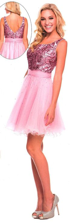 Homecoming Dresses<BR>Sweet 16 Dresses under $100<BR>6005<BR>Glittering Girl!