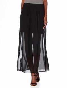 Sheer Overlay Maxi Skirt from THELIMITED.com