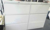 6-Drawer metal 'A4' side-filing units in light grey finish. Great price