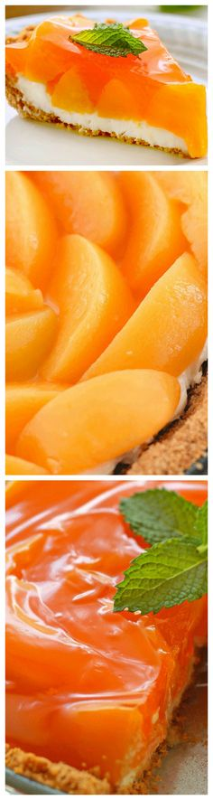 Creamy Peach Pie ~ Easy to make, this light, cool ,creamy, pie screams summer dessert... The graham cracker crust, cream cheese layer, peaches and topping come together perfectly to make one luscious summer treat.