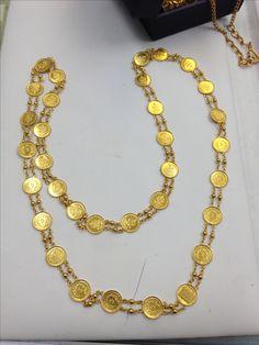 Laxmi coin mala ( chain) in 22kt gold