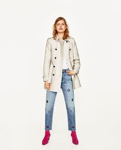Image 1 of DOUBLE BREASTED TRENCH COAT from Zara