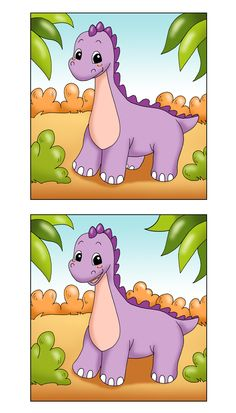 Find The Difference Printable Dinosaur Game