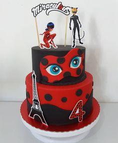 Miraculous Ladybug Party, Miraculous Ladybug Wallpaper, Creative Cake Decorating, Cake Decorating Techniques, Bolo Lady Bug, Ladybug Invitations, Ladybug Cakes, Tamara, 4th Birthday Cakes