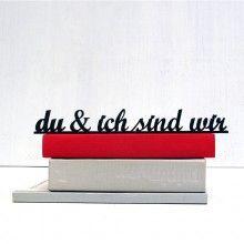 Hochzeitsinspirationen: du & ich sind wir ... Bester Freund | NOGALLERY fontlove 3D-Typo