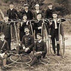 High Wheel Bicycle Club Group Photo - circa 1895 (cropped)