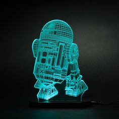 R2-D2 // Star Wars - These 3D Star Wars LED Lamps are a fan-created combination of art and technology, capable of transforming acrylic and LED lighting into incredible quality graphics and design. This sale includes your favorite Star Wars characters in one collection.
