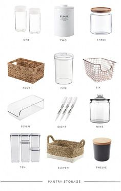 Kitchen Organization Pantry, Home Organisation, Diy Organization, Organizing Ideas, Organized Kitchen, Organising, Ikea Pantry, Kitchen Storage Baskets, Kitchen Organization