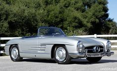 1957 Silver Mercedes-Benz 300SL Roadster